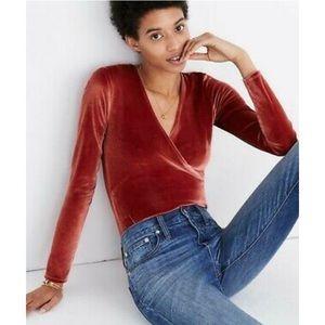 Madewell velvet bodysuit